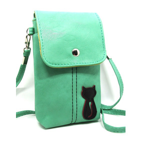 Naoki Vertical Pu Leather 3d Cat Smart Mobile Cellph -verde