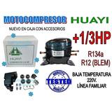 Motocompresor Heladera +1/3hp Huayi R134-r12 220v.
