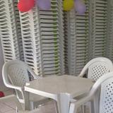 Conjunto Jogo 1 Mesa 4 Cadeiras Poltrona Plástico Top Plast