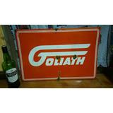 Cartel Chapa Esmaltada Auto Goliath