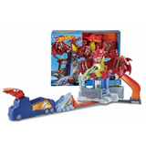 Hot Wheels Pista De Juego Dragon Blast Explosivo Playset