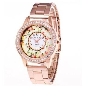 91b0dd99209 Ouro Rosa Diamantes - Relógios De Pulso no Mercado Livre Brasil