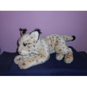 Peluche Lince Iberico Animal Alley 39 Cms Suavecito Leopardo