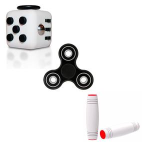 Combo Antiestress Hand Fidget Spinner + Cubo + Stick Novedad