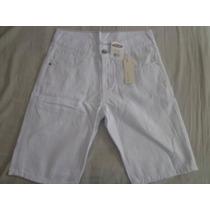 Bermuda Jeans Masculina Ri19 Branca, Imperdível