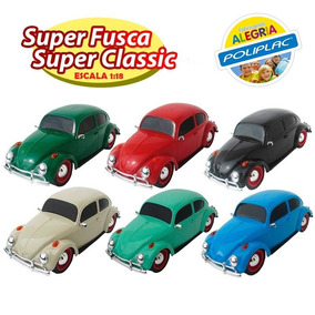 Carrinho Miniatura Fusca Super Classic Poliplac 1:18
