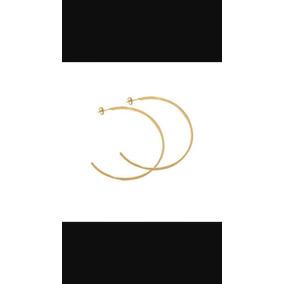 Brinco De Argola Banhado Ouro 18k Feminino