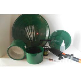Kit Bateas Verde Extracción Oro Gold Pans Panning Gambusino
