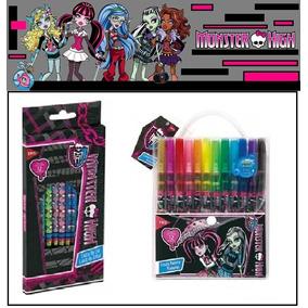 Kit Escolar Monster High - 24 Peças