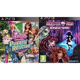 Barbie Rescue E Monster High Ps3 Via Psn