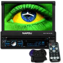 Dvd Retrátil Automotivo Bluetooth Com Tv Napoli 7967 Tela 7