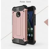 Funda Case Hibrido Uso Rudo Para Moto G5 Plus + Mica Cristal