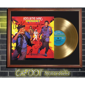 Kool & The Gang Emergency Tapa Lp Firmada Disco Oro