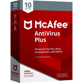 Antivirus Mcafee Plus 2018 10 Equipos Pc Mac Android 1 Año