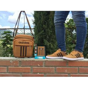 Zapatos adidas+bolso +billetera Caballero