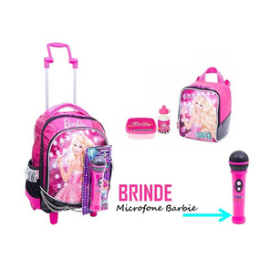 Kit Mochilete M + Lancheira Barbie Rock´n Royals + Brinde