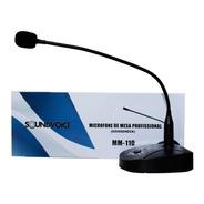 Microfone De Mesa Profissional Gooseneck Mm-110 Soundvoice