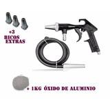 Pistola Jato Areia Arprex + 3 Bicos + 1kg Óxido Free Brasil