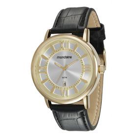 Relógio Masculino Mondaine 83357gpmvdh2 Pulseira De Couro