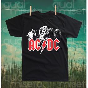 Camiseta Acdc Bandas Rock Algodao Impressao Serigrafia