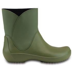 Crocs Originales Rainfloe Bootie Verde Mujer 309