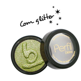 Sombra Compacta Com Glitter - Verde - Oferta