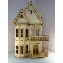 Casa Gotica Para Muñecas Hecha En Madera Mdf Rompecabezas 3d