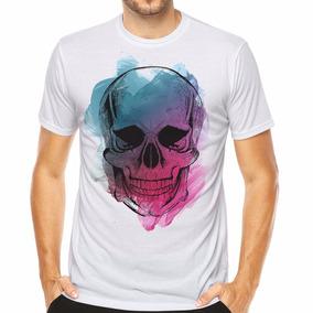 Camiseta Camisa Caveira Skull Estampas Exclusivas