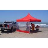 Gazebos Carpas 3h 3x3 Aluminio Completo Estacas Y Vientos