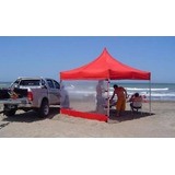 Gazebos Carpas 3h 3x3 Hierro Completo Playa Eventos