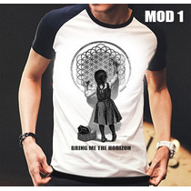 Camisa/camiseta Raglan Bring Me The Horizon Banda De Rock