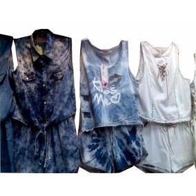 Conjunto Feminino Jeans Modelos Variados Escolha O Seu !