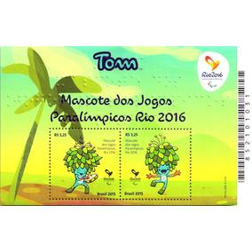 Bloco Olimpiadas Rio 2016 - Mascote Tom (2 Selos)