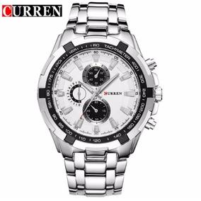 Reloj Hombre Regalo Marca Curren Acero Lujo Metalico Fashion