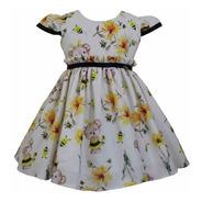 Vestido De Festa Infantil Menina Abelhinha