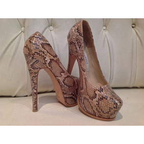 Zapato Stiletto Charol Reptil Luciano Marra,nuevo Original