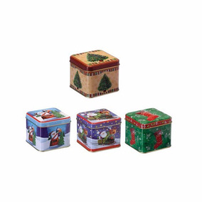Kit Com 10 Latas Natalinas Mini Lembrancinha De Natal