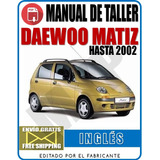Manual De Tallar Daewoo Matiz Hasta 2002 Myp