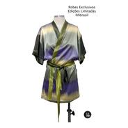 Robe De Cetim Macio Com Estampa Degradê Tamanho Gg