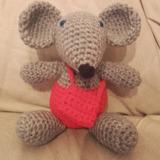 Amigurumi Raton Perez Guarda Diente Tejido A Crochet