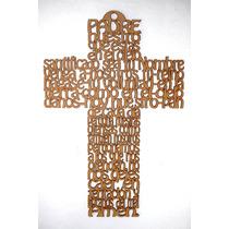 Cruz En Mdf De 30 Cm Oracion Padre Nuestro