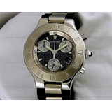 !!!!reloj Cartier Cronoscap 21 Quartz Regalado Aya12