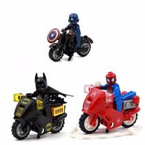 Batman Homem Aranha Capitão América E Motos Marvel E Dc