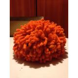Cojin Origina ,color Naranja De Lana De Oveja