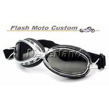 Óculos Estilo Aviador Motoqueiro Lentes Na Cor Fumê