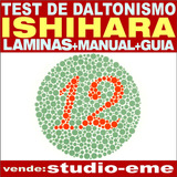 Laminas Test Ishihara +manual+guía De Aplicación (impresos)