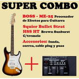 Super Combo: Squier Bullet Hhs + Boss Me-25 + Accesorios