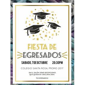 Invitación De Egresados Graduación Primaria Secundaria Gold