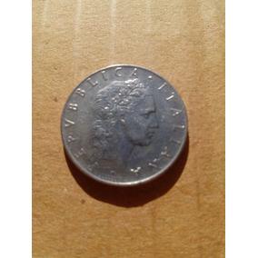 Moneda Italiana Antigua 50 Liras 1965