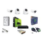 Kit Cftv Giga Security 4 Canais Hd 7200p Completo